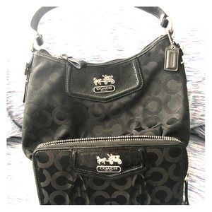 Black Coach Purse with Wallet